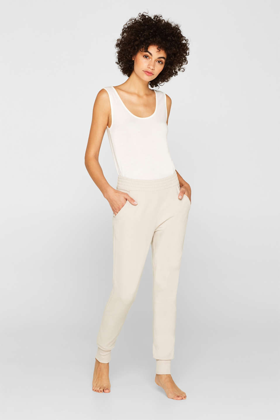 Esprit - Sweatbroek met stretch en organic cotton