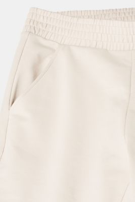 Tracksuit bottoms with stretch and organic cotton, LIGHT TAUPE, detail