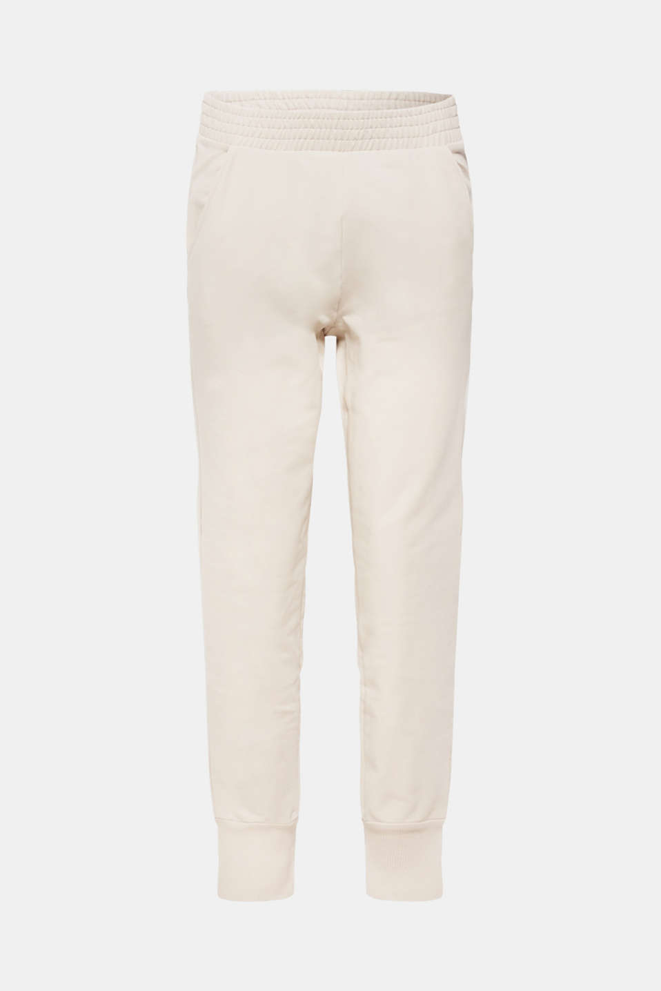 Tracksuit bottoms with stretch and organic cotton, LIGHT TAUPE, detail image number 5