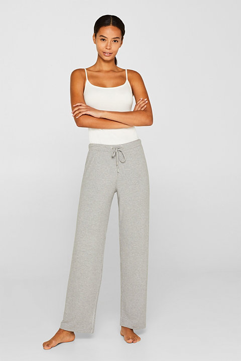 Jersey stretch trousers with LENZING™ ECOVERO™