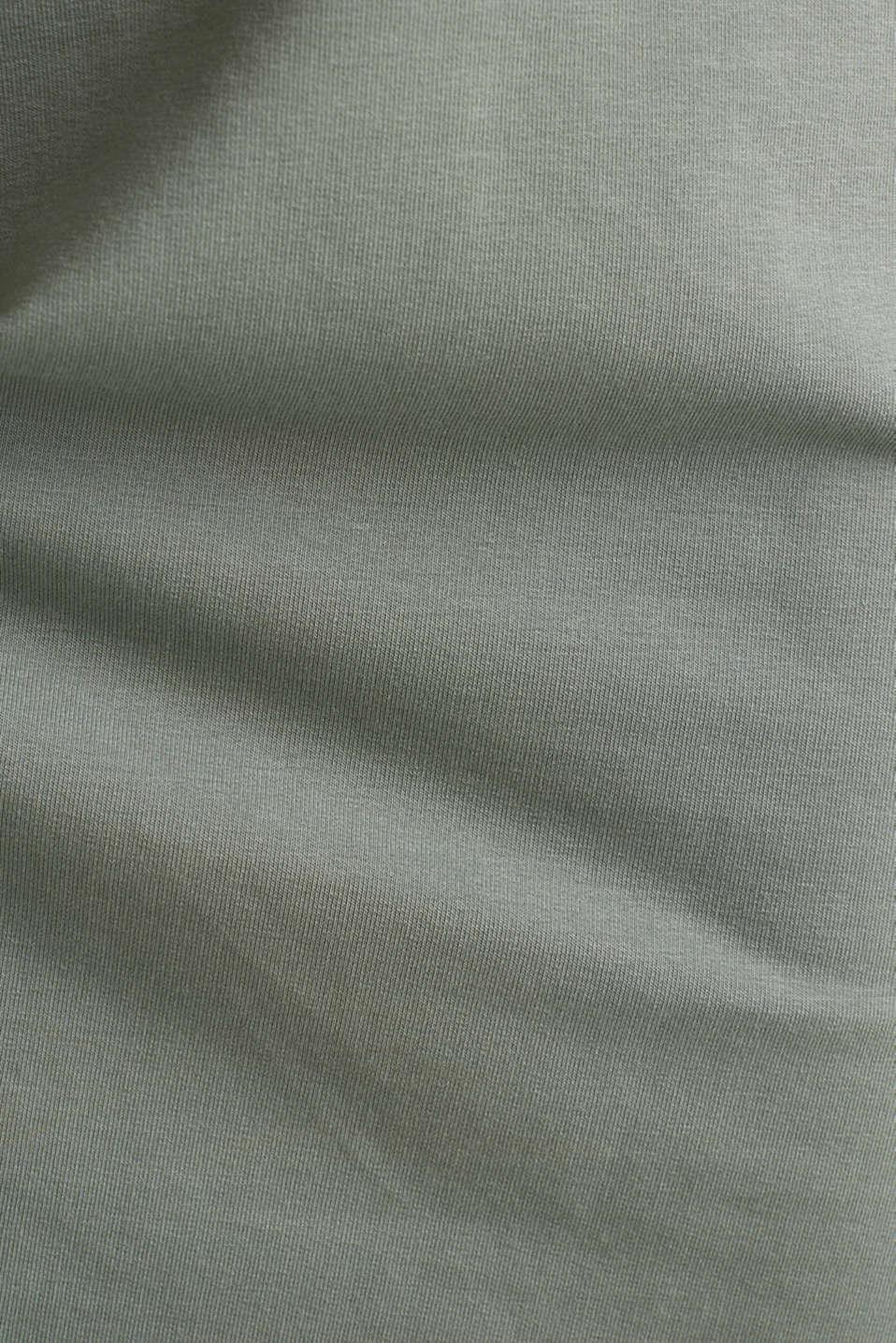 Stretch jersey dress with a high-low hem, LIGHT KHAKI, detail image number 2