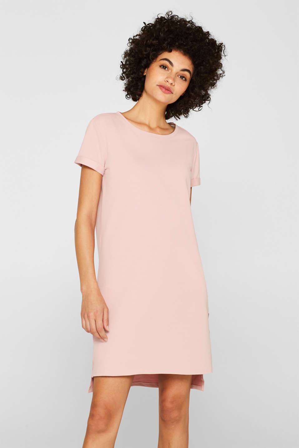 Esprit - Sweat-Kleid mit Stretch und Organic Cotton