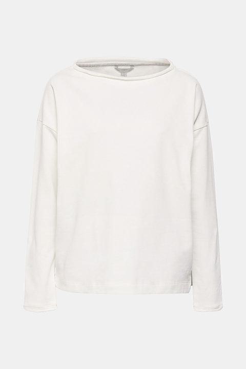 Sweatshirt with organic cotton and fleece details