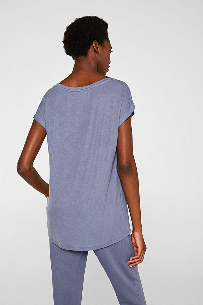 Sensationally soft T-shirt made of stretchy TENCEL™, GREY BLUE, detail image number 3