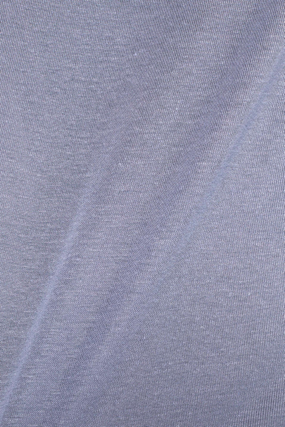 Sensationally soft T-shirt made of stretchy TENCEL™, GREY BLUE, detail image number 4