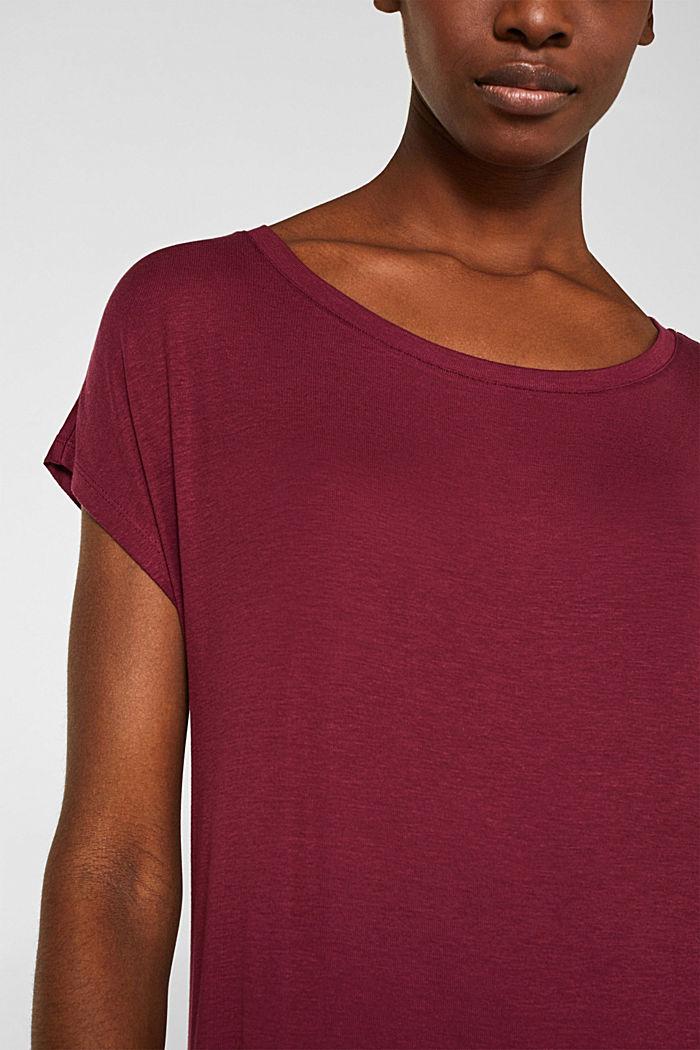 Super softes Shirt aus TENCEL™ mit Stretch, BORDEAUX RED, detail image number 2