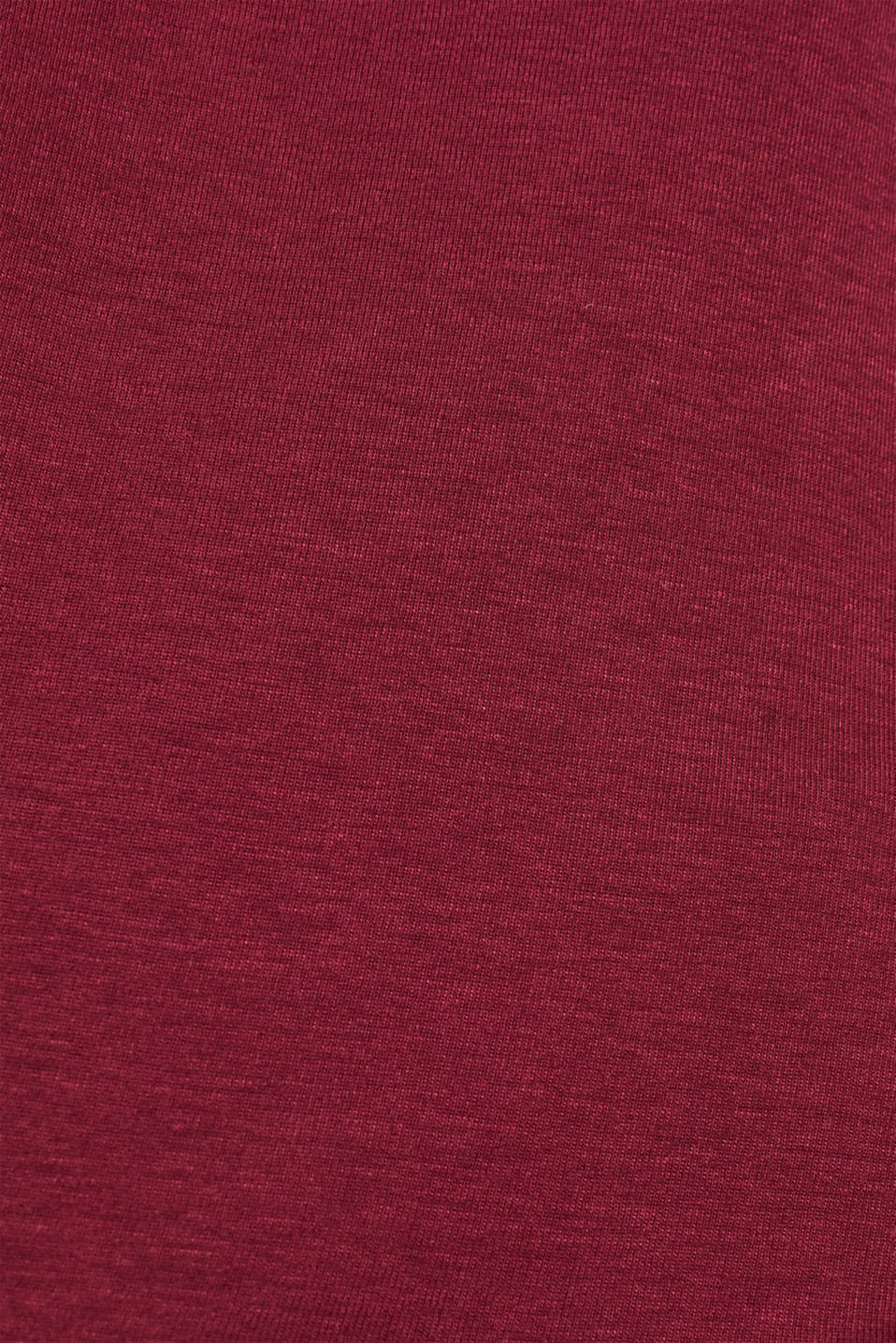 Sensationally soft T-shirt made of stretchy TENCEL™, BORDEAUX RED, detail image number 4