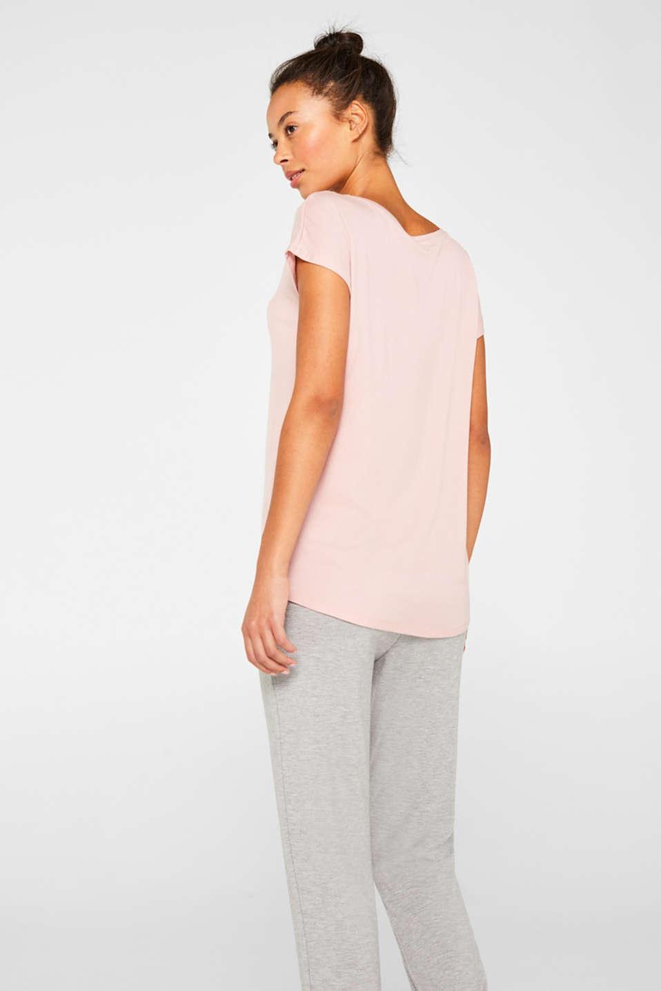 Sensationally soft T-shirt made of stretchy TENCEL™, OLD PINK, detail image number 3