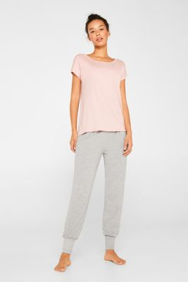 Sensationally soft T-shirt made of stretchy TENCEL™, OLD PINK, detail