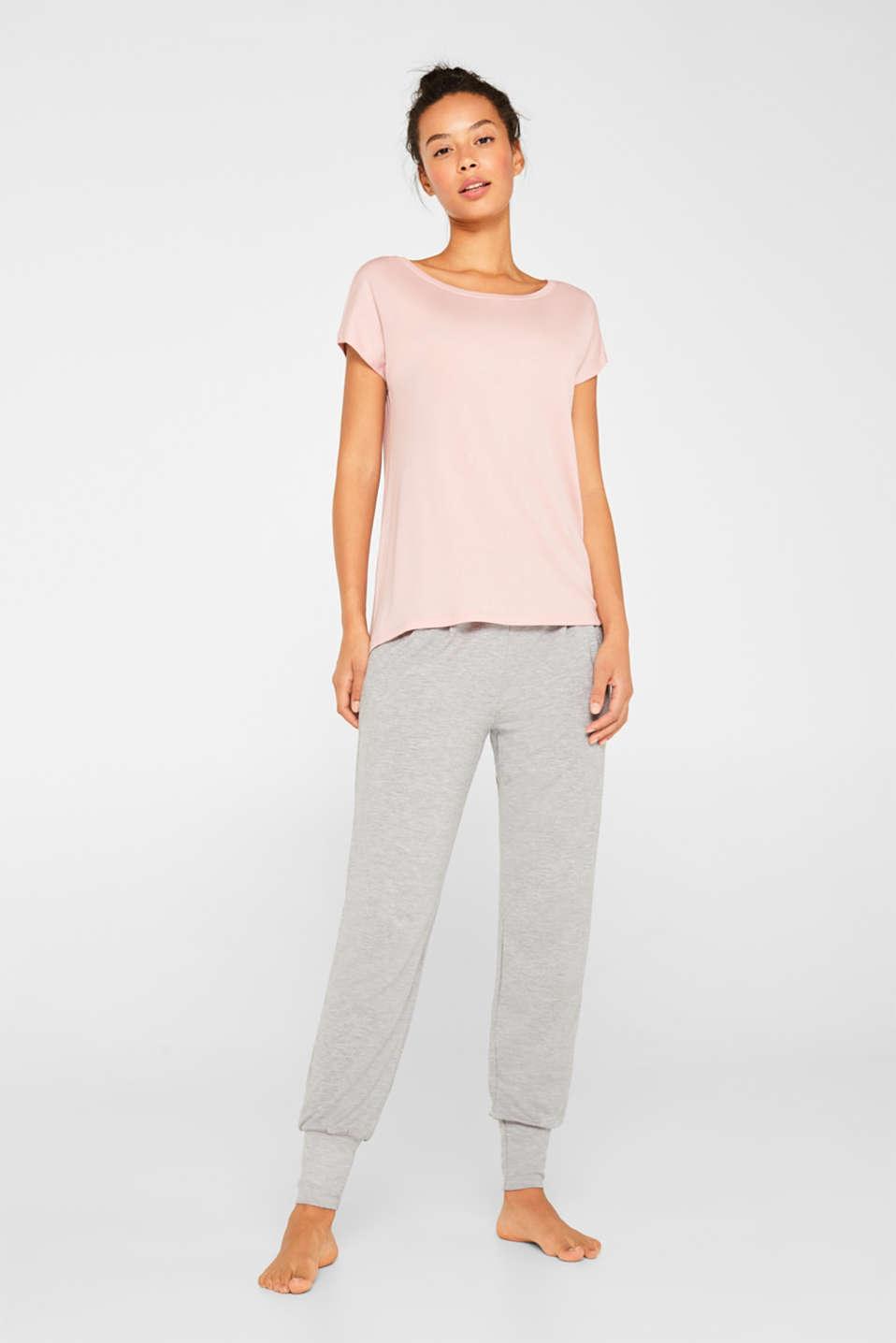 Sensationally soft T-shirt made of stretchy TENCEL™, OLD PINK, detail image number 1