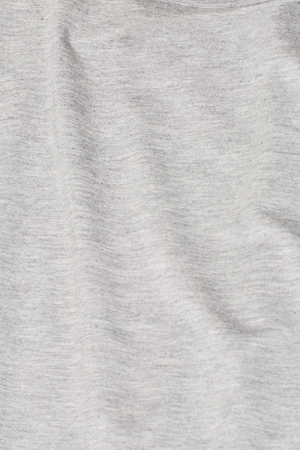 Cold shoulder top with LENZING™ ECOVERO™ viscose, GREY 2, detail image number 3