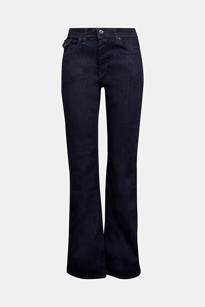 Bootcut jeans made of organic cotton, BLUE RINSE, overview
