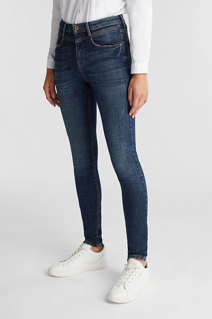 Ankle-length shaping jeans