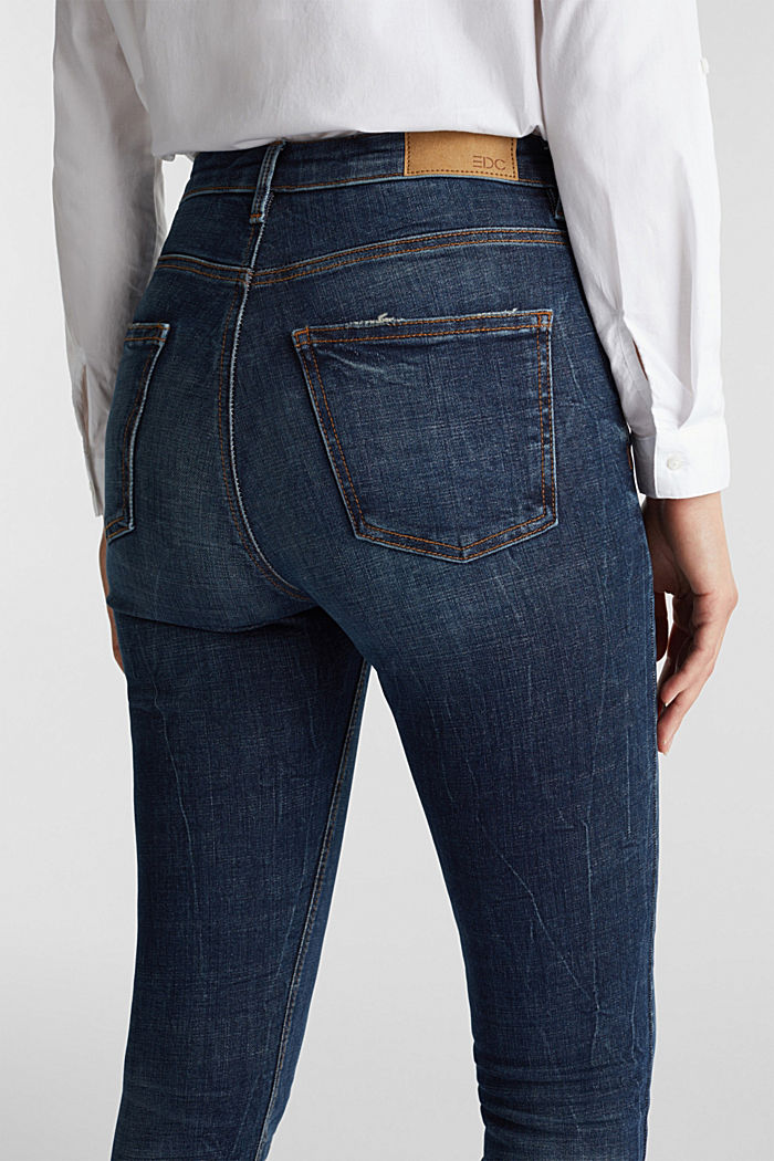 Knöchellange Shaping-Jeans, BLUE DARK WASHED, detail image number 2
