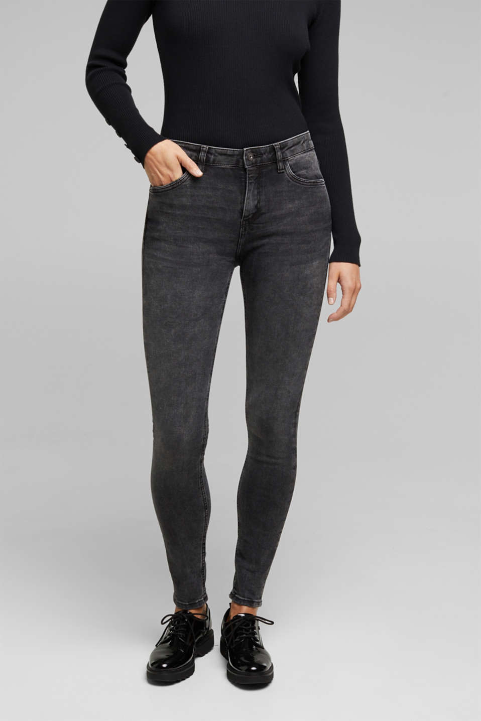 edc - Superstretch-Jeans mit Organic Cotton