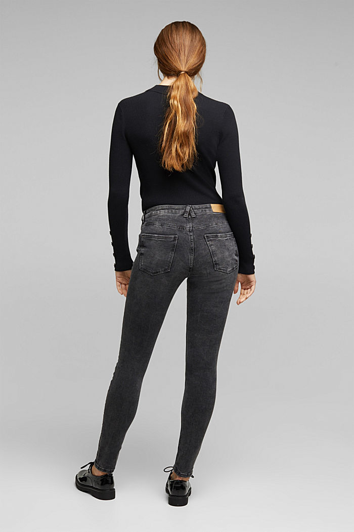 Super stretch jeans with organic cotton, BLACK MEDIUM W, detail image number 3