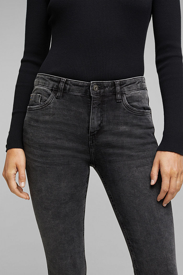 Super stretch jeans with organic cotton, BLACK MEDIUM W, detail image number 2