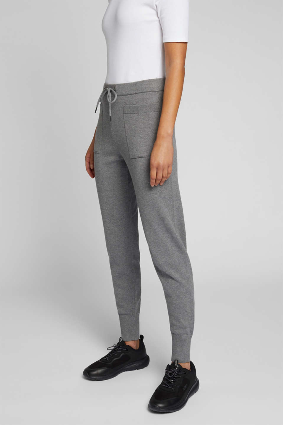 edc - Knitted tracksuit bottoms with organic cotton