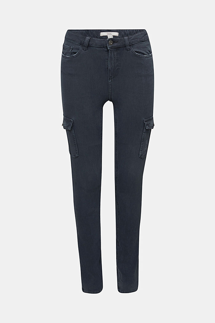 Two-way stretch cargo trousers with organic cotton