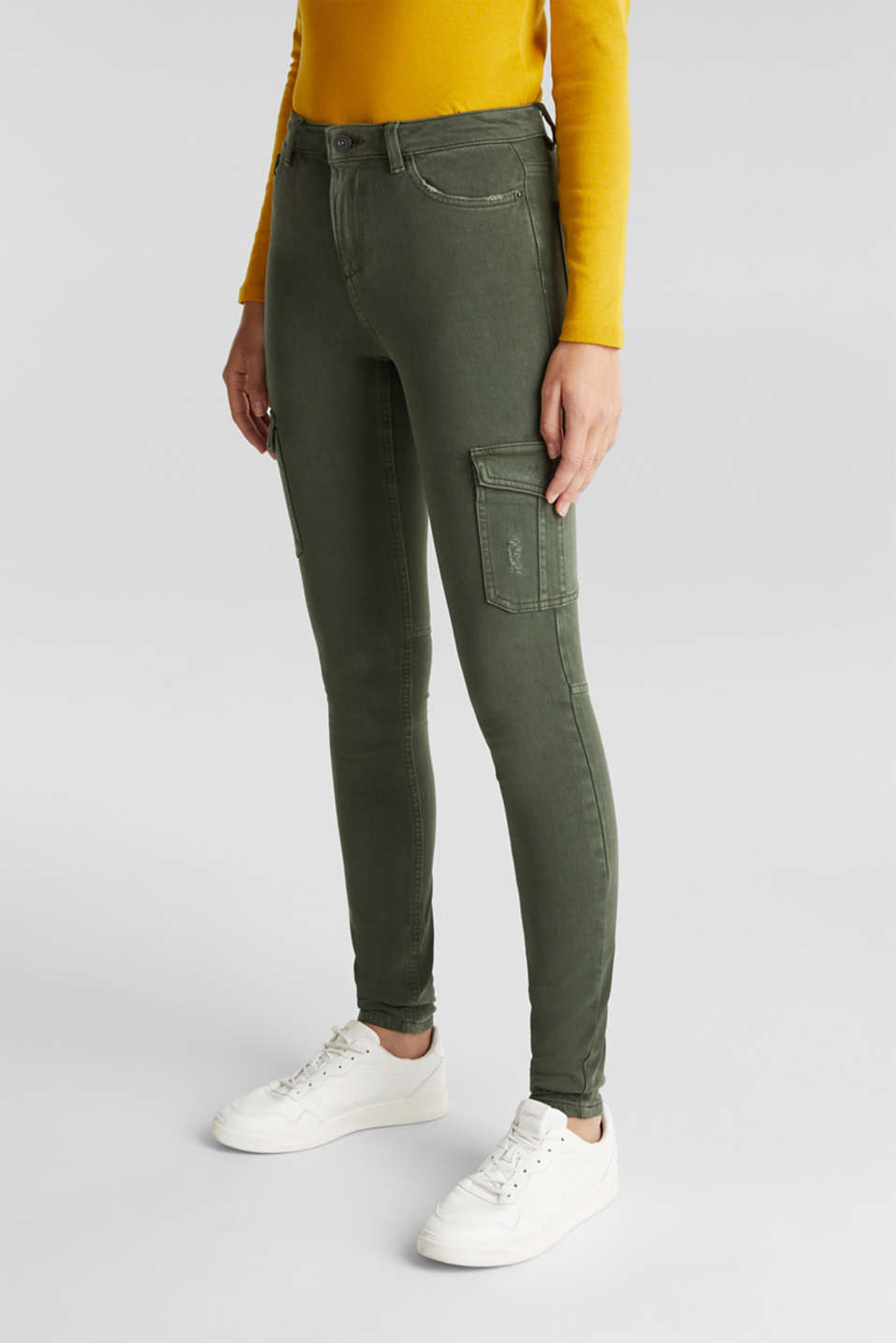 edc - Bi-stretch cargobroek met organic cotton