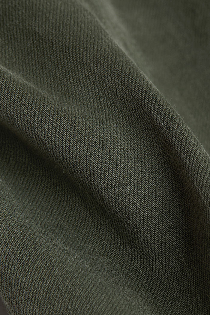 Two-way stretch cargo trousers with organic cotton, KHAKI GREEN, detail image number 4