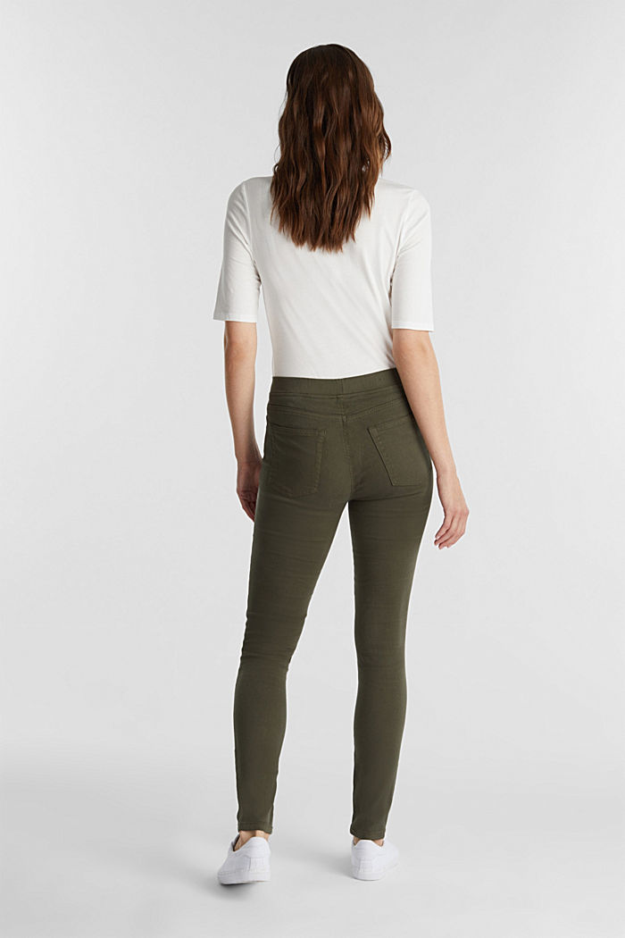 Treggings with stretch, KHAKI GREEN, detail image number 3