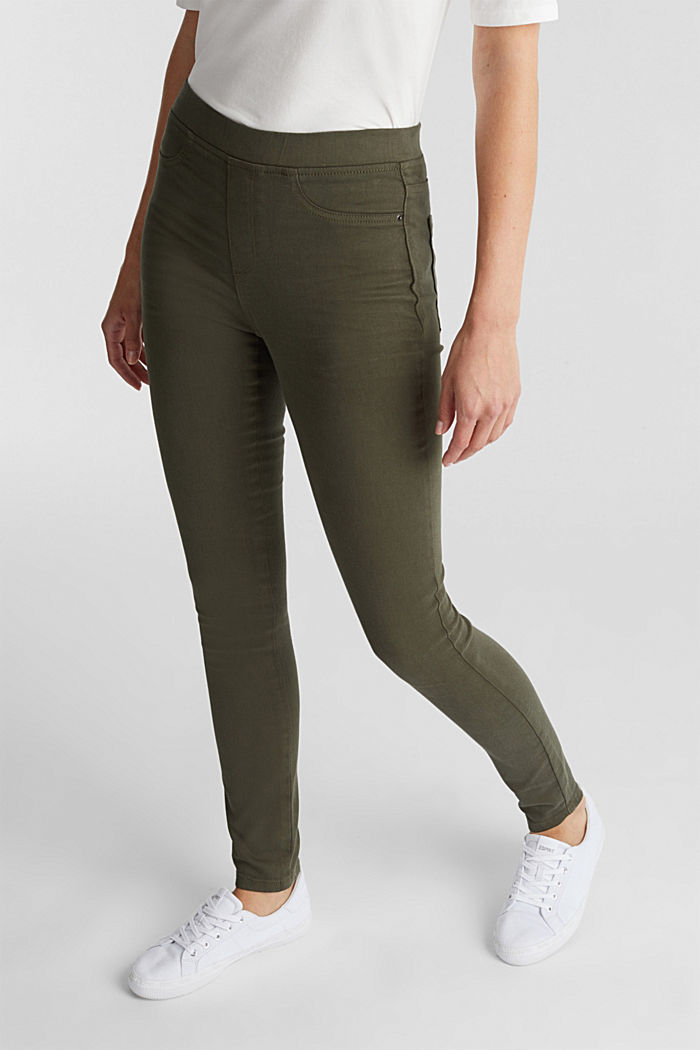 Treggings with stretch, KHAKI GREEN, detail image number 5