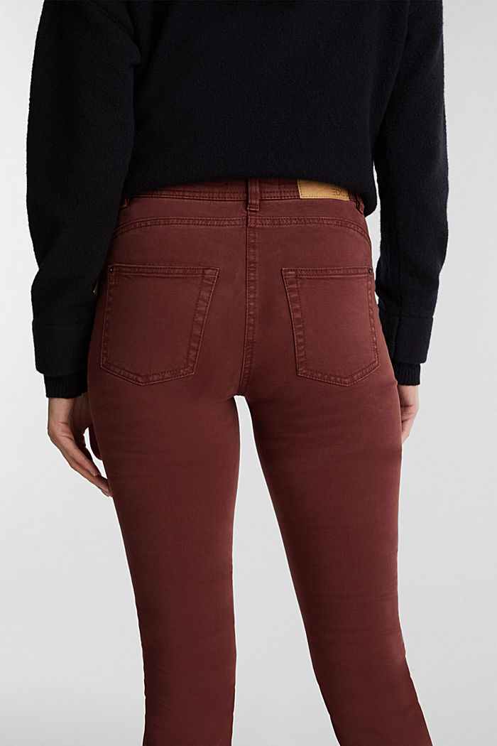 Stretch chinos with organic cotton, RUST BROWN, detail image number 5