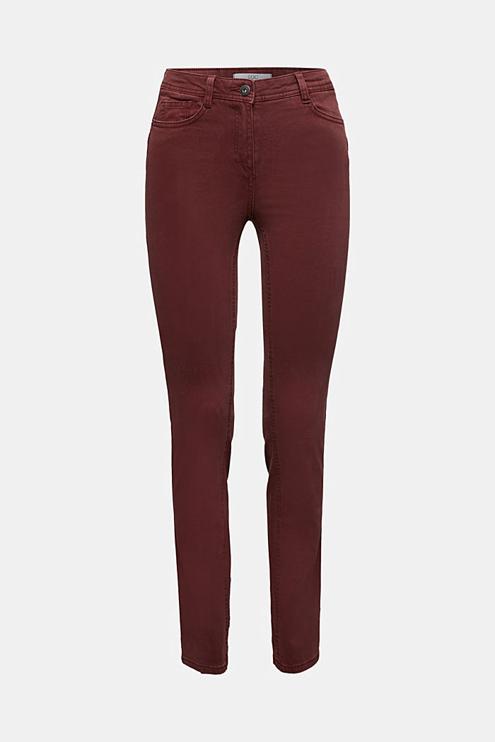 Stretch chinos with organic cotton, RUST BROWN, detail image number 6