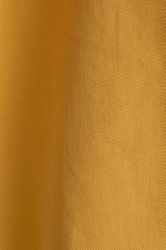 Stretch chinos with organic cotton, AMBER YELLOW, detail image number 4