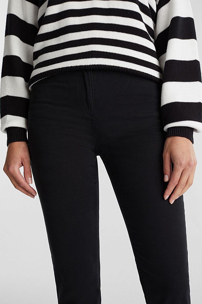 Stretch-Chino mit Organic Cotton, BLACK, detail image number 2