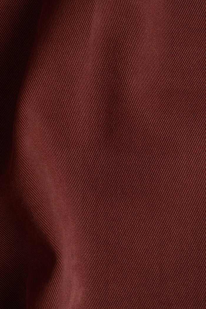Stretch chinos with organic cotton, RUST BROWN, detail image number 4