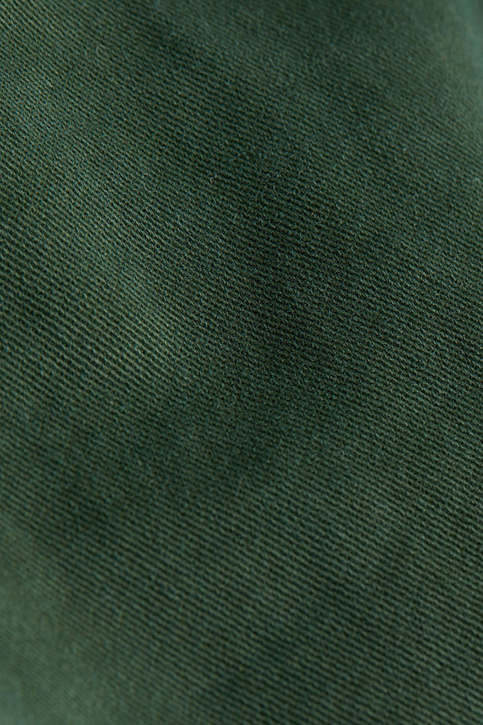 Stretch chinos with organic cotton, DARK GREEN, detail image number 4