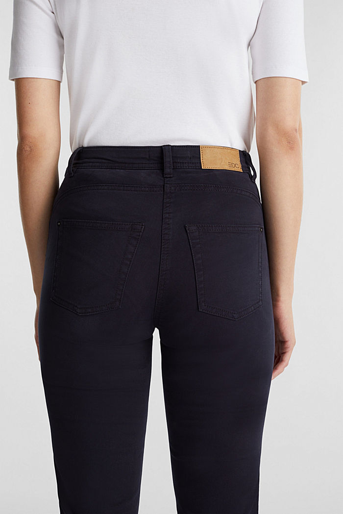 Stretch chinos with organic cotton, NAVY, detail image number 5