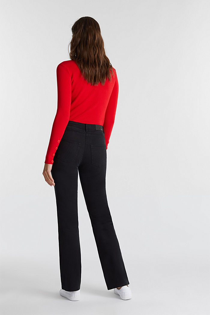 Super stretch trousers containing organic cotton, BLACK, detail image number 3