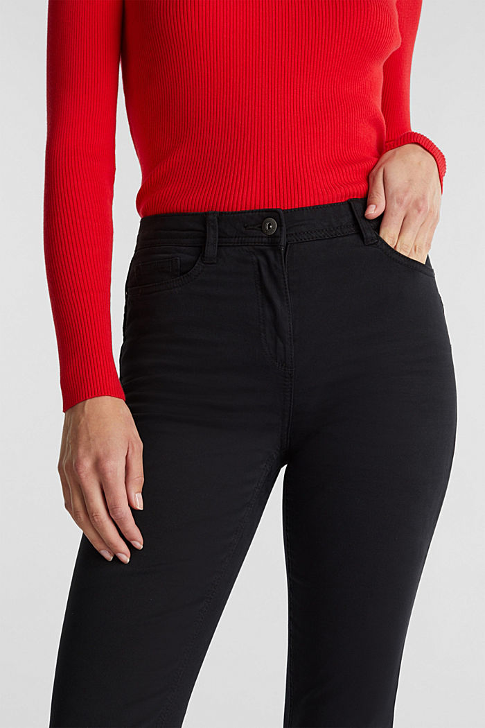 Super stretch trousers containing organic cotton, BLACK, detail image number 2