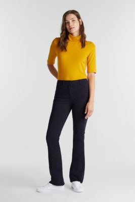 Super stretch trousers containing organic cotton, NAVY, detail