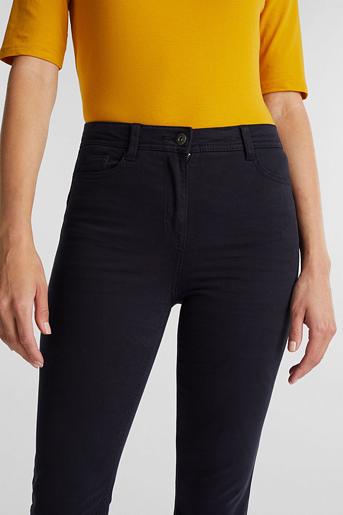 Super stretch trousers containing organic cotton, NAVY, detail image number 2
