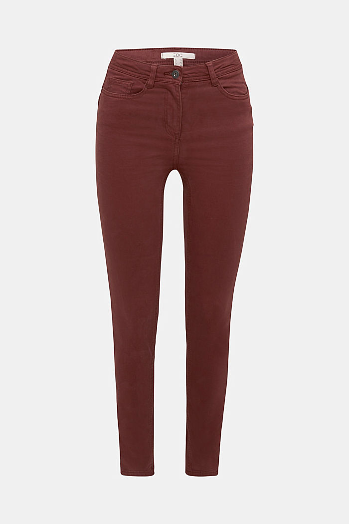 Super stretch trousers containing organic cotton