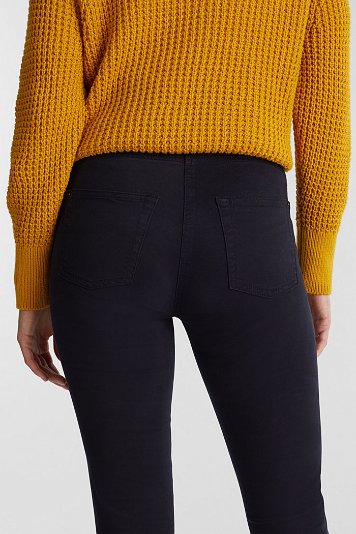 Super stretch trousers containing organic cotton, NAVY, detail image number 5