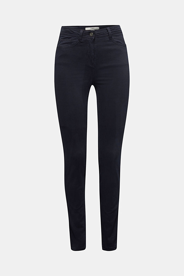 Super stretch trousers containing organic cotton, NAVY, detail image number 6
