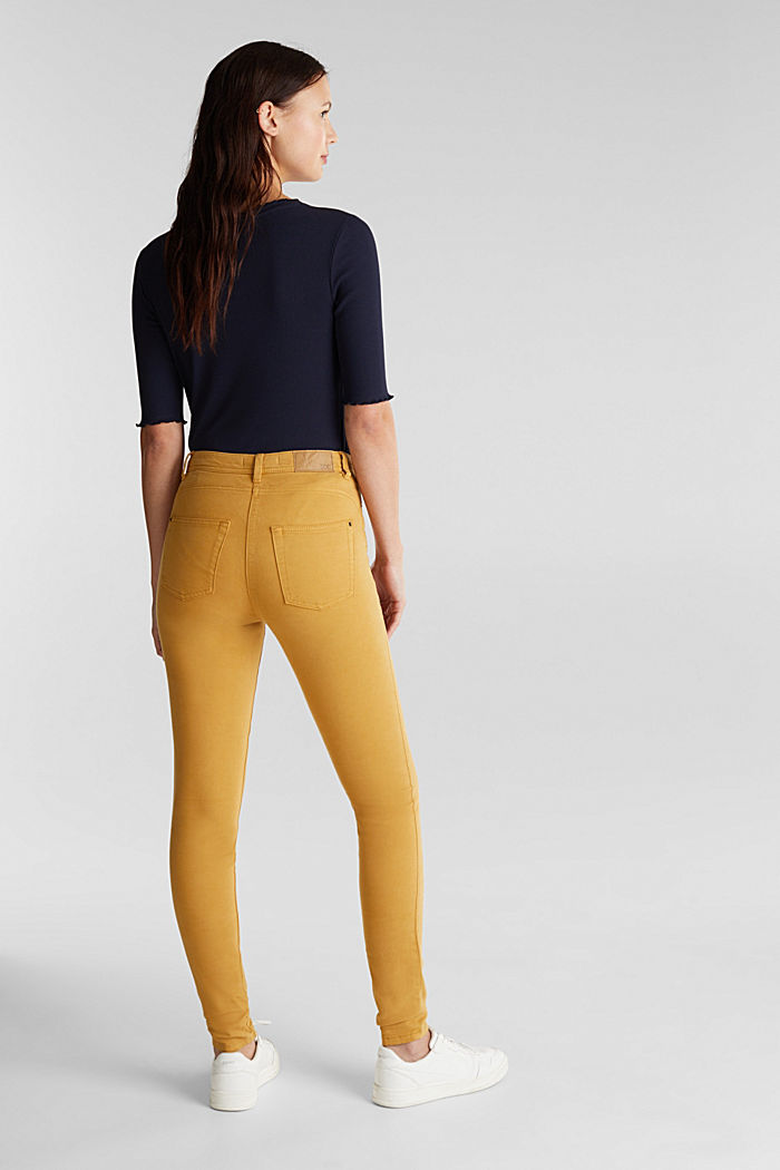 Super stretch trousers containing organic cotton, AMBER YELLOW, detail image number 3