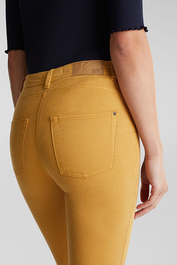 Super stretch trousers containing organic cotton, AMBER YELLOW, detail image number 5