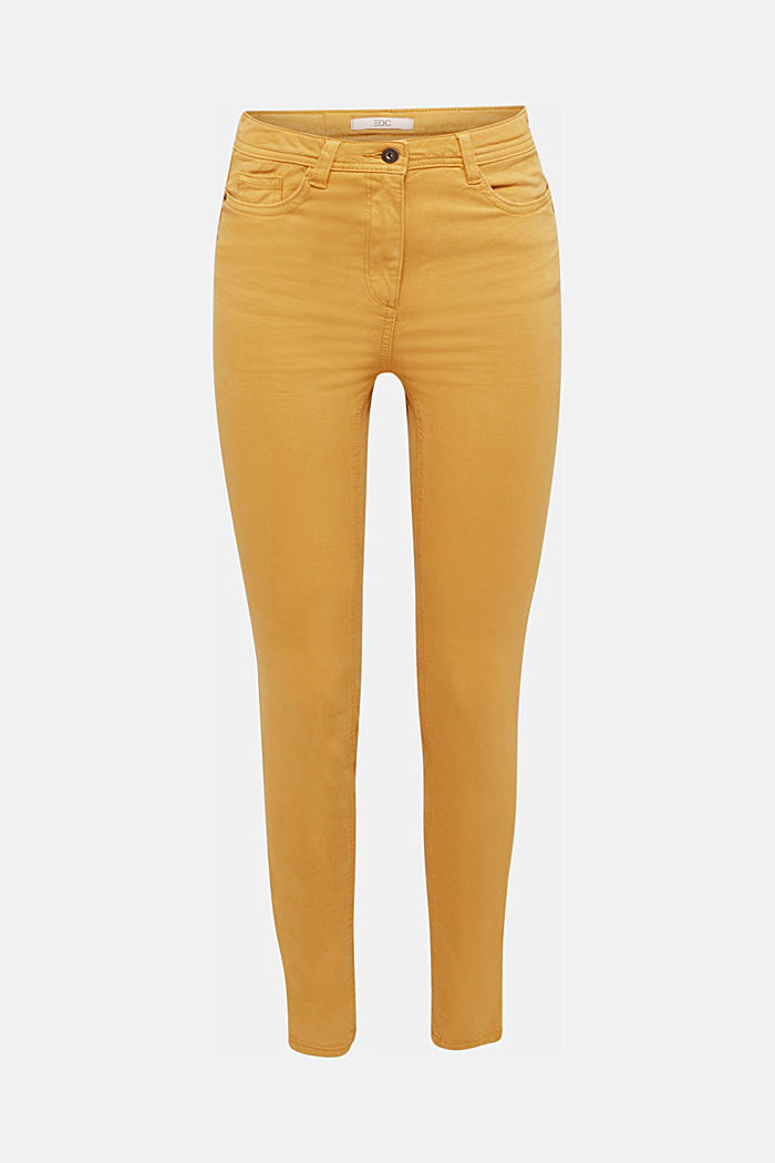 Super stretch trousers containing organic cotton, AMBER YELLOW, detail image number 6