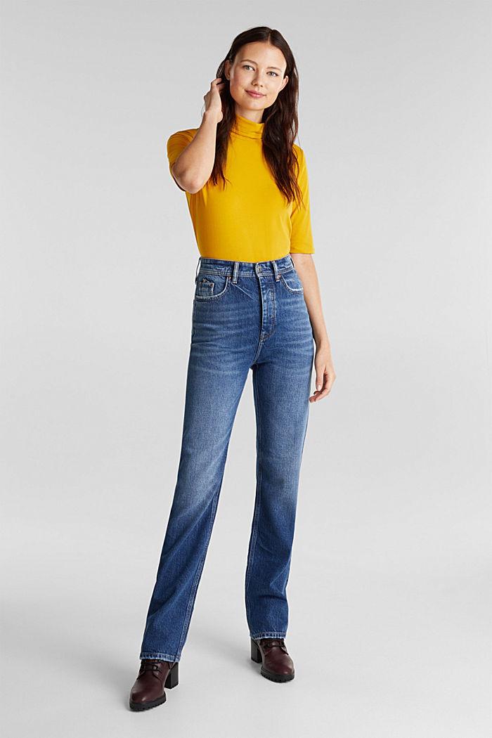 Super-High-Rise-Jeans, BLUE DARK WASHED, detail image number 6