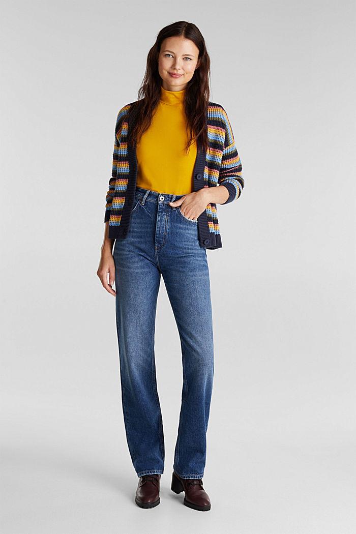 Super-High-Rise-Jeans, BLUE DARK WASHED, detail image number 1