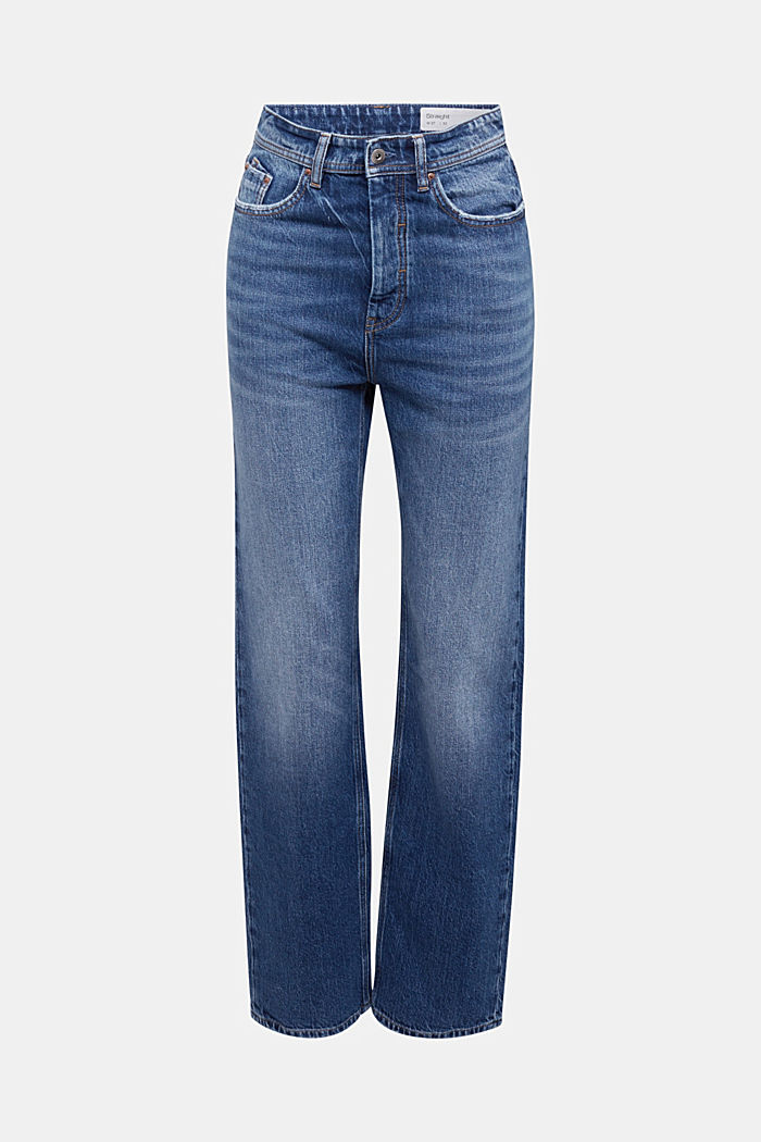Super-high-rise jeans, BLUE DARK WASHED, overview