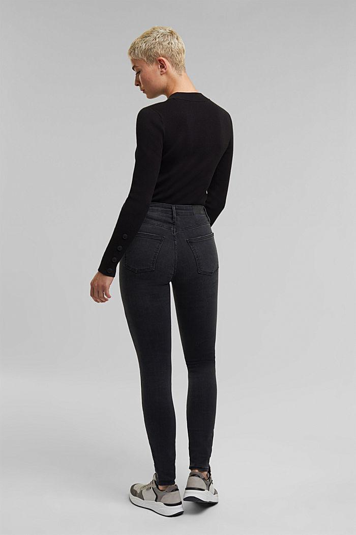 Shaping ankle-length jeans, BLACK DARK WASHED, detail image number 3