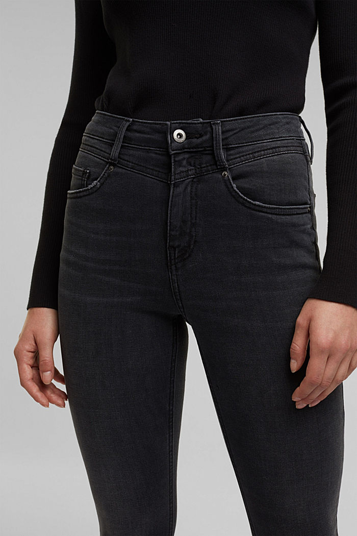 Shaping ankle-length jeans, BLACK DARK WASHED, detail image number 5