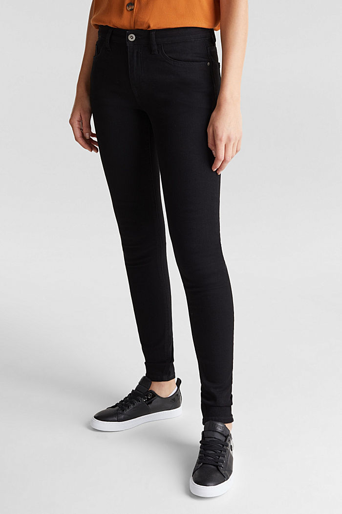 Skinny super stretch jeans, BLACK RINSE, detail image number 0